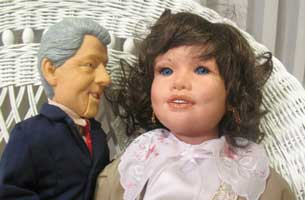 Jean pope and bill clinton