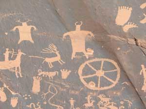 Hieroglyphics Moab Utah