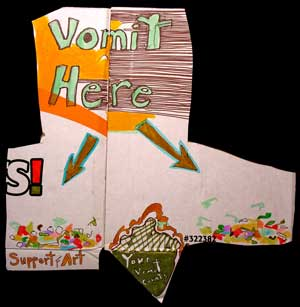 Vomit here <> support (f)art