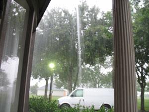 Rain at house