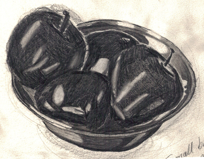 Apples in pewter bowl 2