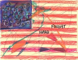 Hard fought - american flag