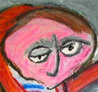 hitler in oil pastel