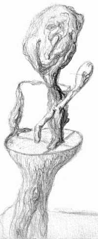 man balanced on stump