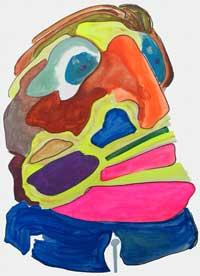 orange-nose man