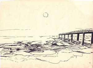 Pier moon
